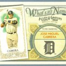 2012 Topps Allen & Ginter What's In A Name Miguel Cabrera (Tigers) #WIN16