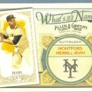 2012 Topps Allen & Ginter What's In A Name Monte Irvin (Giants) #WIN39