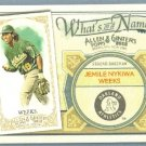 2012 Topps Allen & Ginter What's In A Name Jemile Weeks (Athletics) #WIN40