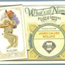 2012 Topps Allen & Ginter What's In A Name Jimmy Rollins (Phillies) #WIN44
