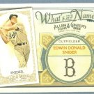 2012 Topps Allen & Ginter What's In A Name Duke Snider (Dodgers) #WIN49