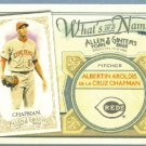 2012 Topps Allen & Ginter What's In A Name Aroldis Chapman (Reds) #WIN56