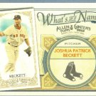 2012 Topps Allen & Ginter What's In A Name Josh Beckett (Red Sox) #WIN57