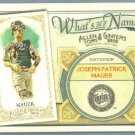 2012 Topps Allen & Ginter What's In A Name Joe Mauer (Twins) #WIN71