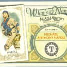 2012 Topps Allen & Ginter What's In A Name Mike Napoli (Rangers) #WIN85