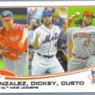 2013 Topps Baseball League Leaders Chase Headley / Ryan Braun / Alfonso Soriano #272