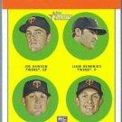 2012 Topps Heritage Baseball Rookies Benson / Hendriks / Parmelee / Waldrop #333