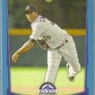 2012 Bowman Draft Picks & Prospects BLUE Rookie Edwar Cabrera (Rockies) #27 #'d 396/500