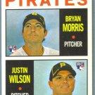 2013 Topps Heritage Baseball Pirates Rookies Bryan Morris & Justin Wilson #418