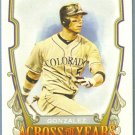 2013 Topps Allen & Ginter Across The Years Carlos Gonzalez (Rockies) #ATY-CG