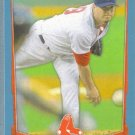 2012 Bowman Baseball Blue Border Josh Beckett (Red Sox) #64 #'d 498/500