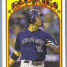 2013 Topps Baseball Mini Retro 1972 Carlos Gonzalez (Rockies) #TM-19