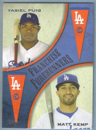 2013 Topps Update & Highlights Franchise Forerunners Yasiel Puig & Matt Kemp (Dodgers) #FF-2