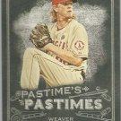 2014 Topps Allen & Ginter Baseball Pastimes Jered Weaver (Angels) #PP-JW