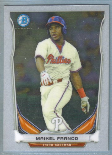 2014 Bowman Baseball Chrome Prospect Miguel Alfredo Gonzalez (Phillies) #BCP105