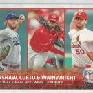 2015 Topps Baseball League Leaders Clayton Kershaw / Johnny Cueto / Adam Wainwright #85