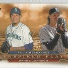 2015 Topps Inspired Play Felix Hernandez & Randy Johnson (Mariners) # I-14