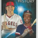 2015 Topps Eclipsing History Mike Trout & Rod Carew (Angels) #EH-7