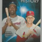 2015 Topps Eclipsing History Hank Aaron (Braves) & Stan Musial (Cardinals) #EH-2