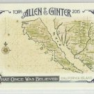"2015 Topps Allen & Ginter Baseball What Once Was Believed ""California Island"" #WAS-9"