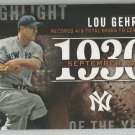 2015 Topps Update & Highlights Season Highlight 1930 Lou Gehrig (Yankees) #H-62