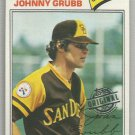 2015 Topps Update & Highlights Original Buybacks 1977 Topps Johnny Grubb (Padres) #286