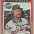 2015 Topps Update & Highlights Original Buybacks 1975 Topps Pete Broberg (Rangers) #542