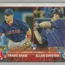 2015 Topps Update & Highlights Baseball RC Combos Chris Rearick & Cory Mazzoni (Padres) #US194