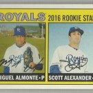 2016 Heritage Baseball Rookie Stars Miguel Almonte & Scott Alexander (Royals) #167