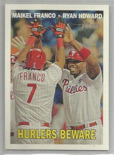 "2016 Heritage Baseball ""Hurlers Beware"" Maikel Franco/Ryan Howard (Phillies) #309"