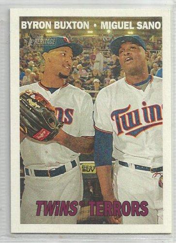 "2016 Heritage Baseball ""Twins Terrors Byron Buxton / Miguel Sano (Twins) #334"
