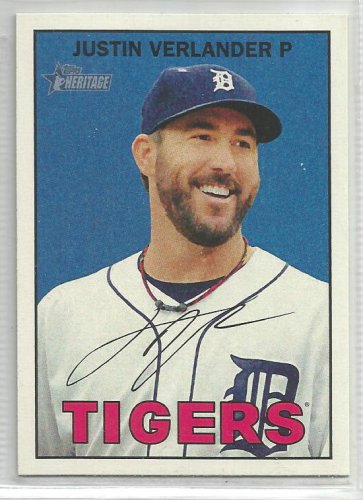 2016 Heritage Baseball Justin Verlander (Tigers) #420