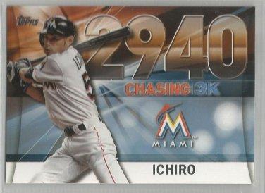 2016 Topps Update Baseball Chasing 3k #2940 Ichiro Suzuki (Marlins) #3000-35