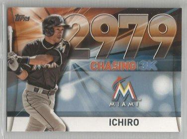 2016 Topps Update Baseball Chasing 3k #2979 Ichiro Suzuki (Marlins) #3000-49