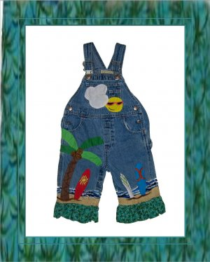 Custom Surfer Ocean Overalls or Pants