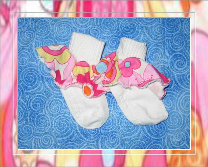 Ruffle Socks Made With Baby Lulu Fabric