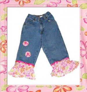Custom Overalls or Jeans with Bay Lulu Fabric