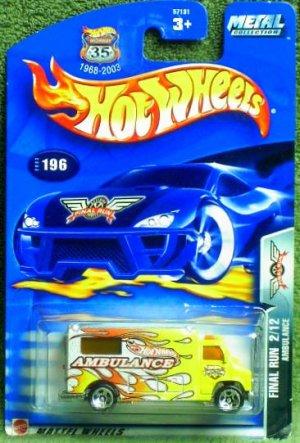 "2003 Hot Wheels ""Final Run"" Ambulance #2 of 12 in series"