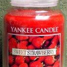 """Yankee Candle """"Sweet Strawberry"""" 22oz. Housewarmer Candle"""