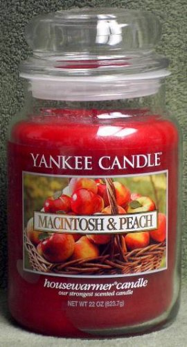 "Yankee Candle ""Macintosh & Peach"" 22oz. Housewarmer Candle"