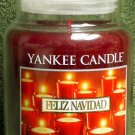 "Yankee Candle ""Felize Navidad"" 22oz. Housewarmer Holiday Candle"