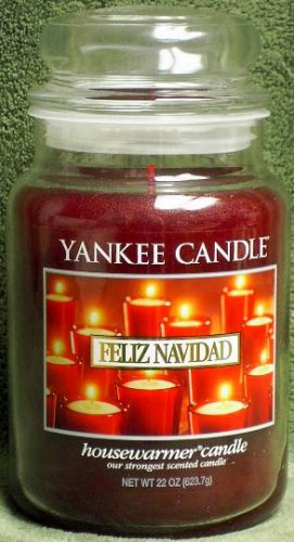 "Yankee Candle ""Felize Navidad"" 22oz. Housewarmer Holiday Candle"