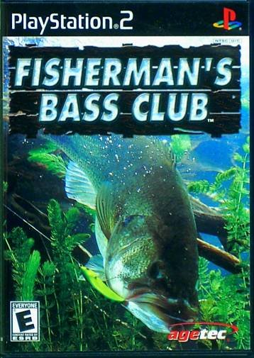 """Playstation 2 """"Fisherman's Bass Club"""" Video Game   Used"""