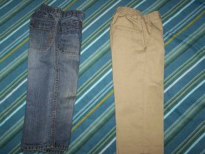 Boys   2 Pair  of pants  SZ. T 4 ( Used