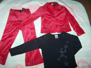 5t girl outfit NWOT  and matching shirt. by GEORGE