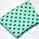 Coffee Cozy Cup Sleeve - Teal with Brown Polka Dots