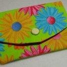 Mini Wallet Business Card Holder- Bright Daisy