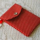 Gift Card - ATM - Debit - Credit - ID Card Holder - Key chain- Red