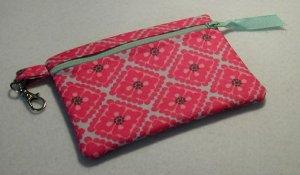Little Zip Pouch- Padded Zippy- Perky Pink