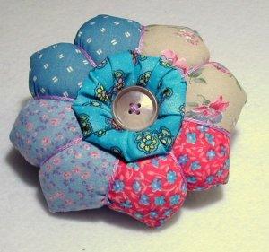 Flower Petal Pincushion - Patchwork